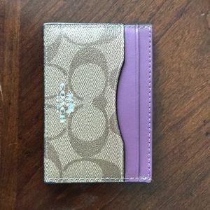 Coach card wallet women